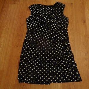 Like New NEW DIRECTIONS Polka Dot Dress Sz 2X